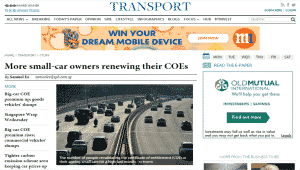 Business Times COE Renewal Article Apr 2015
