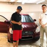 Shafi Thumbs Up With A Renewed COE Hyundai from SG Cash N Cars