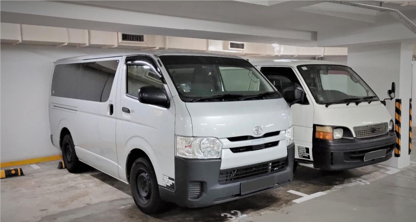 Vans For Rental Including Latest 6 speed Hiace Automatic